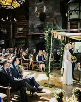 striped chuppah