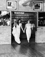 brides exiting venue