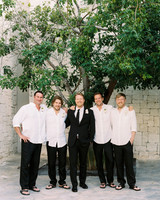 sara danny mexico wedding groomsmen