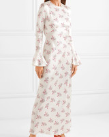les reveries floral print maxi dress