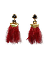 red tassel earings