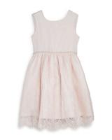 summer flower girl outfit light pink lace dress