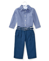 Ralph Lauren Childrenswear Button-Down Shirt with Broadcloth Pants