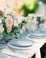 Ice Blue and Cream wedding color scheme