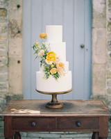 Yellow and Slate wedding color scheme
