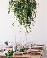 wedding centerpiece types hanging greenery