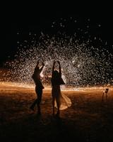 wedding fireworks sparkler silhouettes