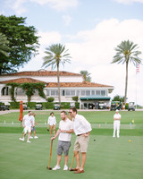 men playing croquet