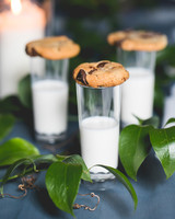 wedding after party milk and cookies