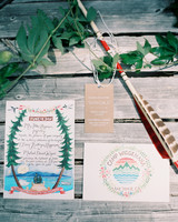 camp-themed wedding invitations