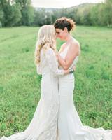 allison aimee wedding brides embracing