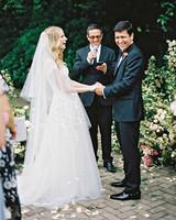 amanda alex wedding ceremony couple