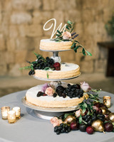 Millefoglie Wedding Cake with Initial Topper