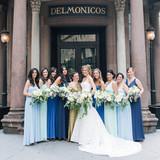 Mismatched Blue Bridesmaid Dresses
