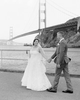 wedding couple golden gate bridge