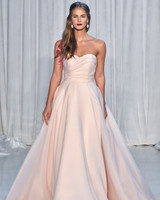 anne barge wedding dress fall 2018 peach strapless a-line