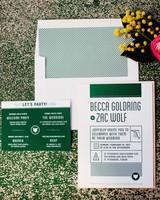 becca zac wedding stationery