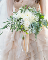 overflowing white bouquet