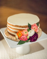 Naked Cake with Ranuculus