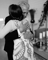 wedding father and daughter hug