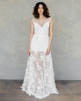 claire pettibone wedding dress spring 2019 illusion neck short sheer overlay