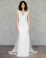 claire pettibone wedding dress spring 2019 cap-sleeve lace sheath