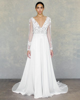 claire pettibone wedding dress spring 2019 long-sleeved lace a-line