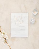 classic save the dates elegant font shine