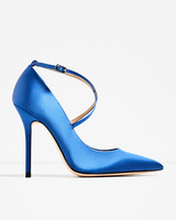 wedding shoes blue satin