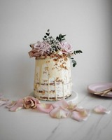Coconut Glazed white wedding cake