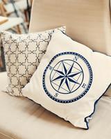 compass wedding ideas lounge pillows