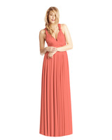 coral bridesmaid dress twobirds ballgown