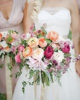 warm dahlia wedding bouquet