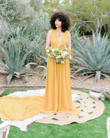 destination wedding dress yellow deep v sleeveless