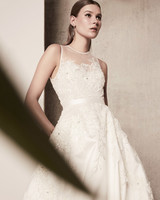 illusion a-line elie saab wedding dress spring 2018
