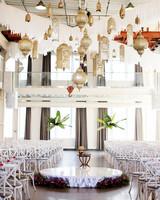 modernized hindu wedding ceremony decor