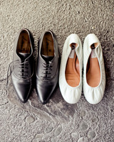 Black Oxfords and White Flats