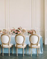 french blue table