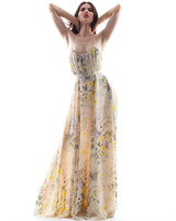 houghton wedding dress spring 2018 with yellow floral print