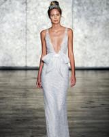 inbal dror wedding dress fall 2018 deep v bow embellished