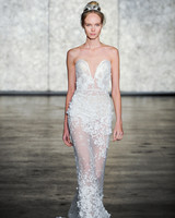 inbal dror fall 2018 lace sweetheart wedding dress