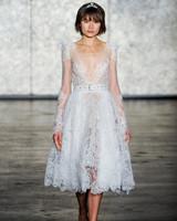 inbal dror fall 2018 lace long sleeve belted wedding dress