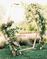 jena donny wedding outdoor hexagon structure