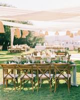 jena donny wedding outdoor reception tables