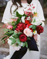Red Winter Wedding Bouquet
