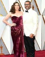 Jordan Peele and Chelsea Peretti 2018 Oscars