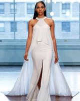justin alexander wedding dress spring 2019 halter slit train