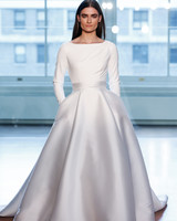 justin alexander wedding dress spring 2019 ball gown long sleeves