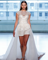 justin alexander wedding dress spring 2019 shorts jumper illusion