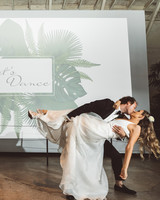 kaily matt wedding los angeles couple dancing